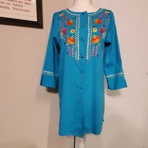 Linea by Louis Dell'Olio Embroidered Tunic